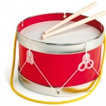 a toy drum isolated on white with a clipping path